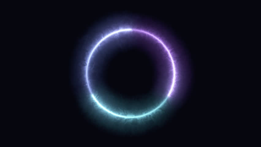 Radial waves of digital light rotate and shine (Loop). | Shutterstock HD Video #1008625867