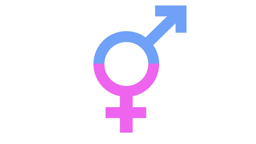 transgender gender equality icon in and out animation