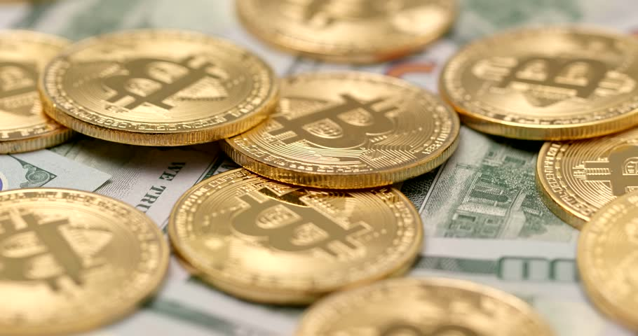 Bitcoin and USD | Shutterstock HD Video #1008705637