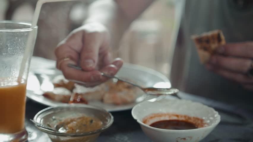 Indian Cuisine Mattar Paneer is a Vegetarian North Indian Dish Consisting of Peas And Paneer in a Tomato Based Sauce, Spiced with Garam Masala. Sri Lanka kottu close up Tandoori Roti