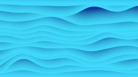 Colorful wave gradient animation.. Future geometric patterns motion background. 3d rendering