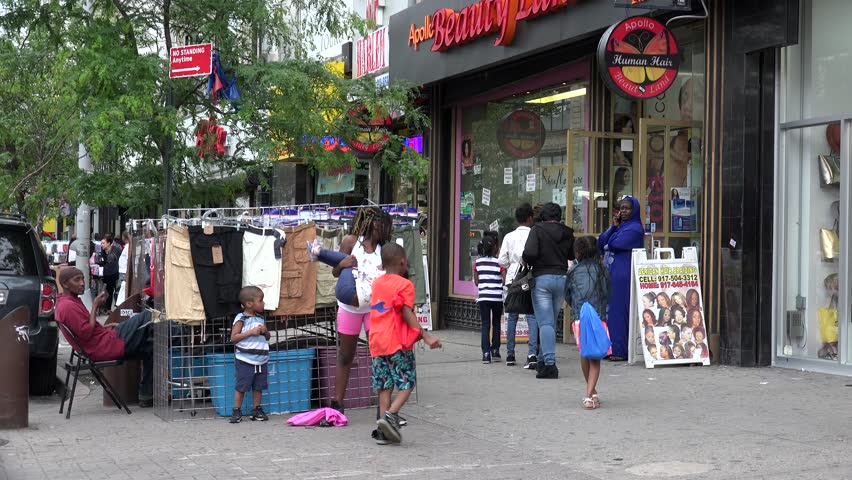 NEW YORK CITY - MAY 24: Street trading at the West 125th Street (Central Harlem). May 24, 2017 in NYC, New York, USA.