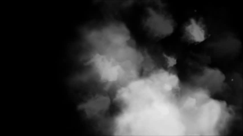 Smoke rising on black background | Shutterstock HD Video #1008802097