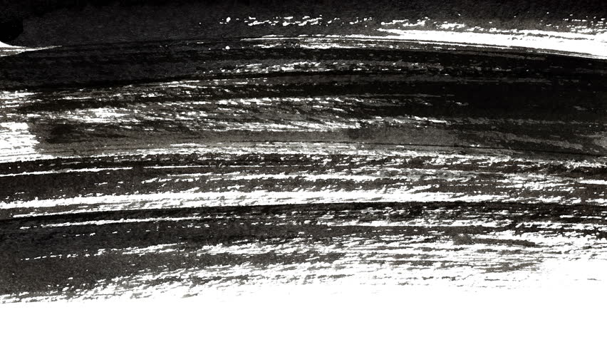 Shading - Abstract Black Ink Hand-painted Brush Strokes -- 4K Seamless Looping Background