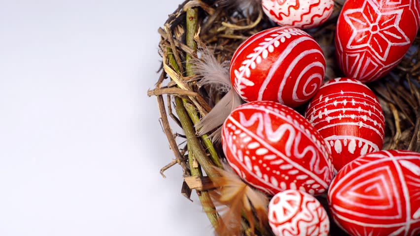 Image result for red eggs for easter