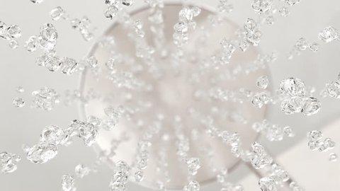Falling drops in 4K super slow motion
