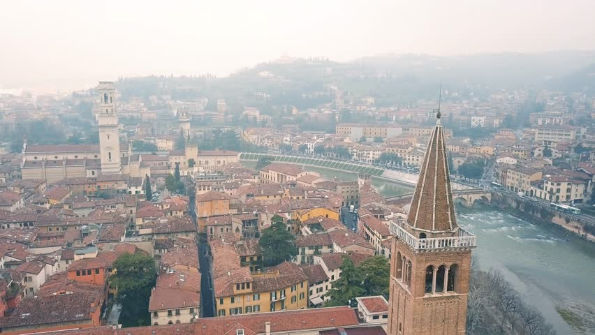 Cityscape of Verona, Northern Italy | Shutterstock HD Video #1008985847