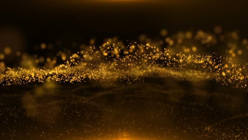 Abstract Gold Particles Glitter Glamour Rain | Shutterstock HD Video #1009051787