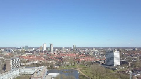 Aerial City Scape Eindhoven