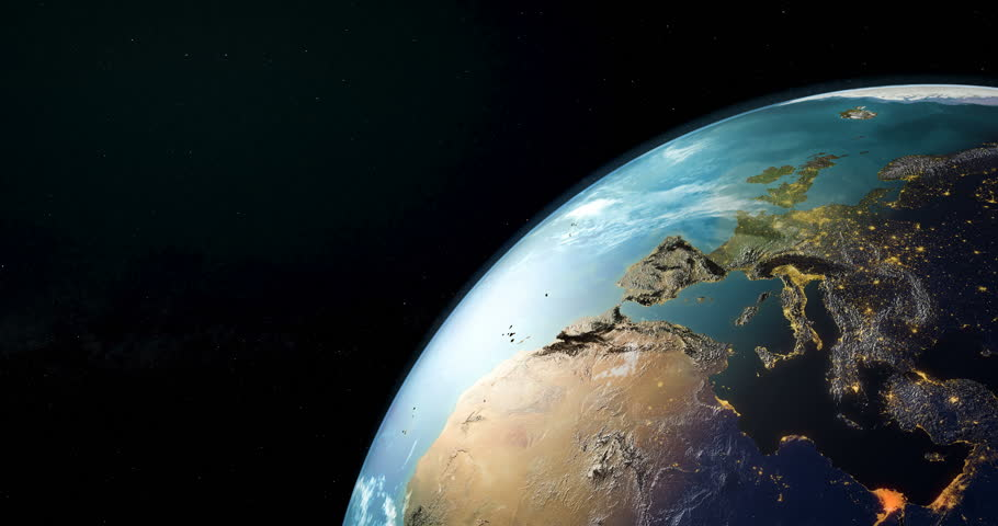 Communication satellite orbiting earth, rotation around the Earth Globe, animation. 3D rendering. Elements furnished by NASA. | Shutterstock HD Video #1009072967