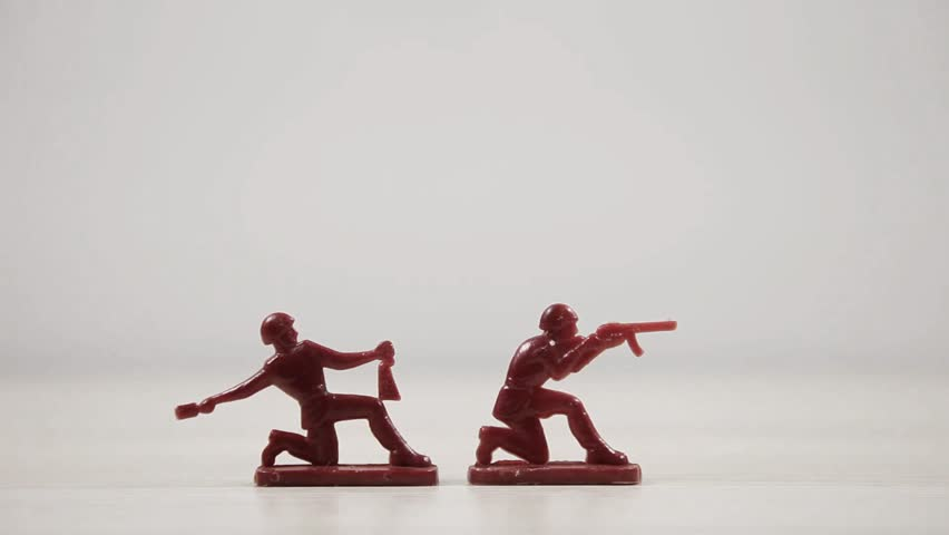 Toy soldiers, soviet army. Red army of USSR. Soviet Union toys. Vintage, retro