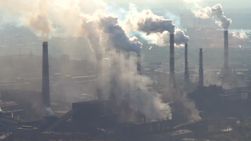 Pollution of the Atmosphere by an Industrial Enterprise of the Metallurgical Industry. | Shutterstock HD Video #1009117727