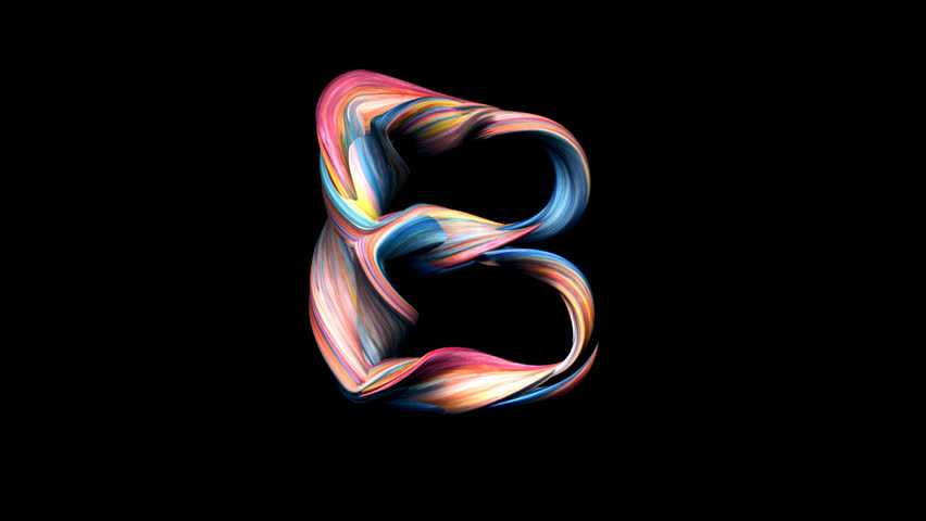 Letter B - Playdough alphabet 3D animation, with alpha channel for titles and intros.