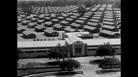 CIRCA 1940 - American propaganda film from 1942 describing internment of Japanese Americans in World War 2.