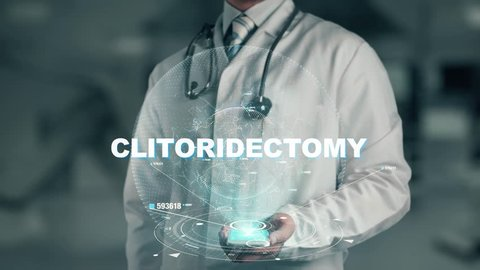 Doctor holding in hand Clitoridectomy