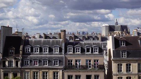 vintage roofs of Paris
