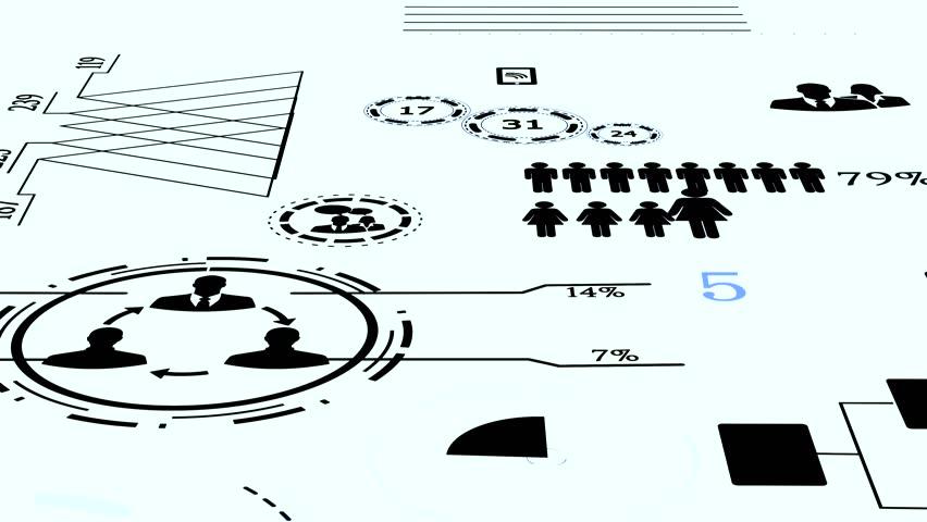 Digital Animated Customer Data Statistic Charts | Shutterstock HD Video #1009308137