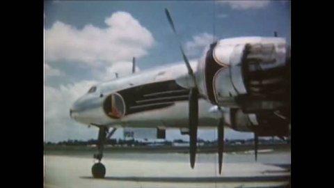 CIRCA 1950 - Eddie Rickenbacker introduces the new Constellation in 1953.