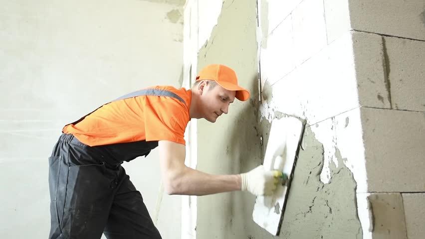 Header of plaster