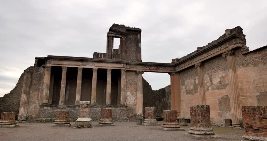 Ruins of Pompei, Italy. Archeological park near Naples.