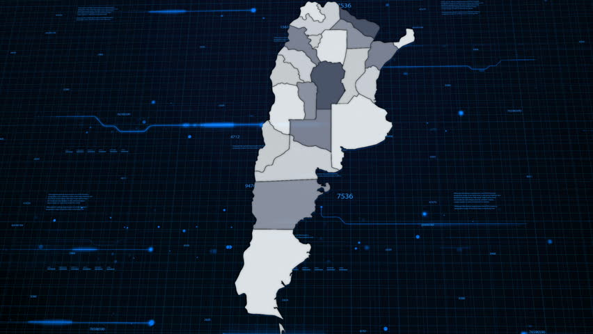 Argentina Network Map #1009520357