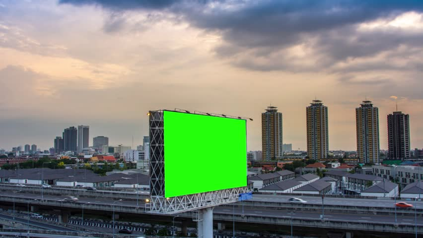 Billboard with traffic to the sky  #1009546097