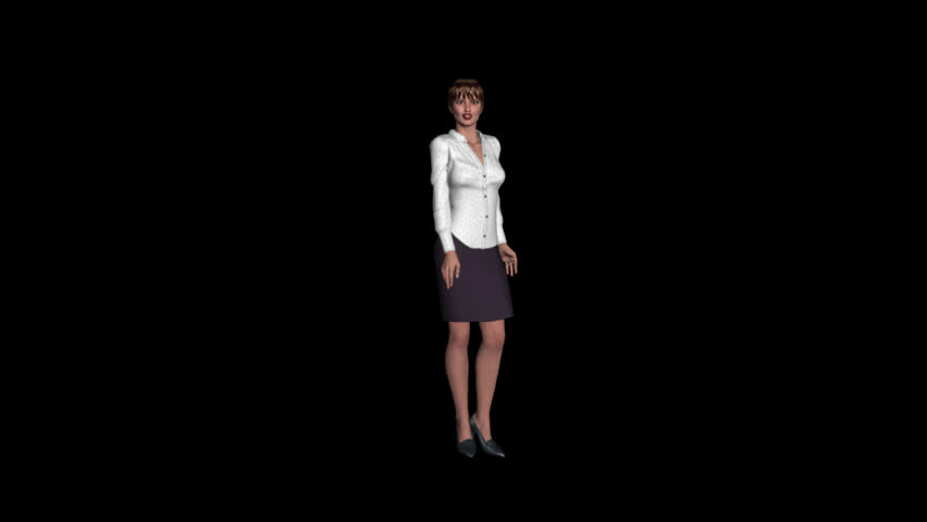 Talking Presenter - Female Character - Transparent Loop - 01 - Realistic 3D animation of speaking woman with alpha channel. | Shutterstock HD Video #1009554827