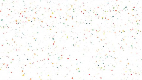 Colorful confetti particles. White background