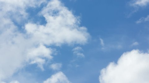 Beautiful cirrus clouds moving across a summer blue sky. It can also be used as a transitional video, a meditative video, or for nature-related projects.
