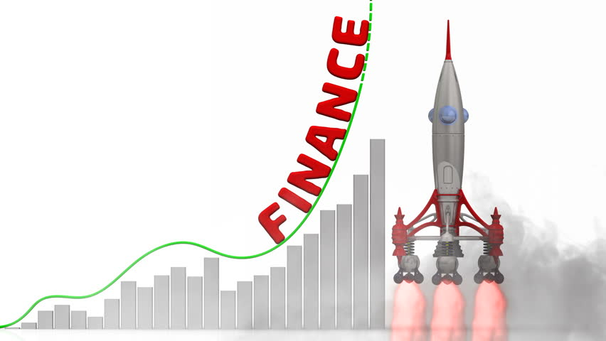 The graph of finance growth. Graph of rapid growth with word FINANCE and rocket launch. Footage video | Shutterstock HD Video #1009673627