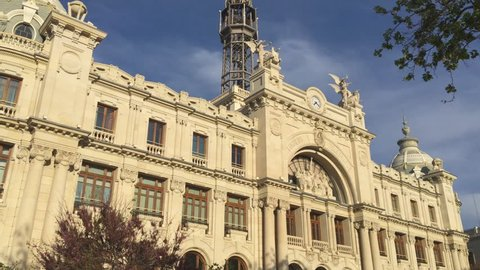 321 View of the Valencia city Correos building Ayuntamiento square Spain