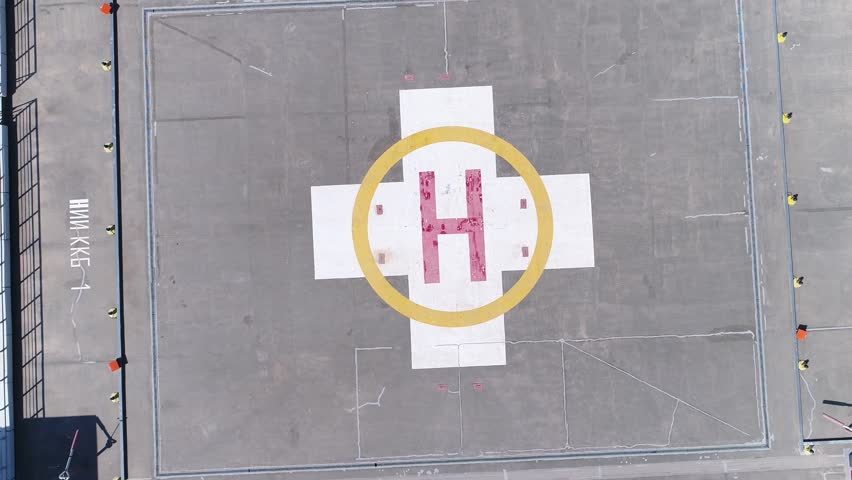 Heliport for helicopter on high building