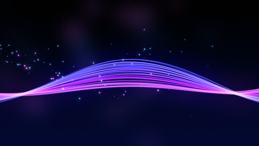 Abstract Beautiful Colorful Curved Bands of Light with floating particles | Animated Motion Background seamless looping | Purple Violet Blue | Shutterstock HD Video #1009804517