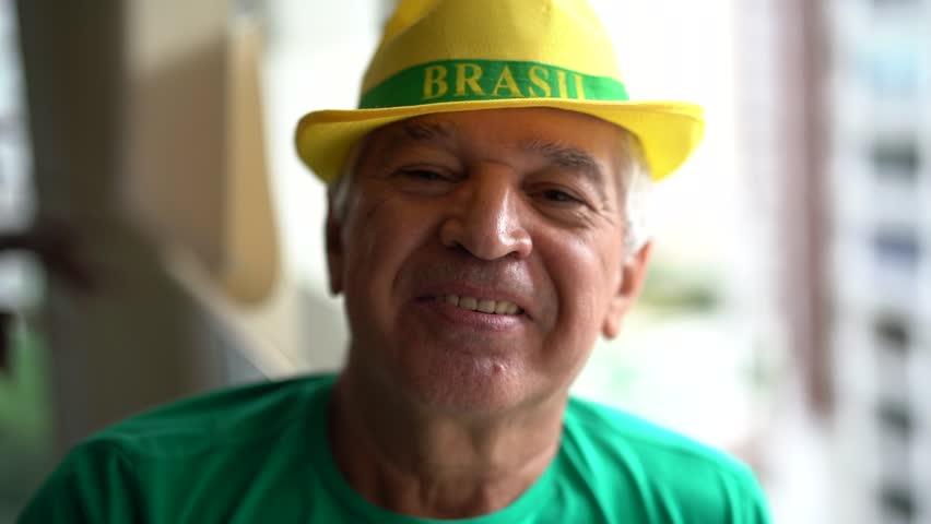 Portrait of Brazilian Soccer Fan