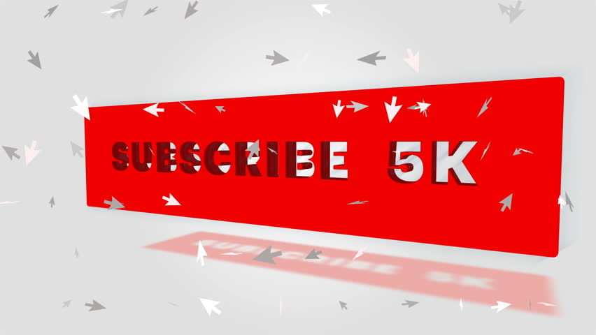 Social media 5K Subscribe Notification Icon | Shutterstock HD Video #1009812887