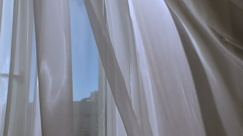 Mystical  Window with curtain.  Conceptual romantic story of the room.