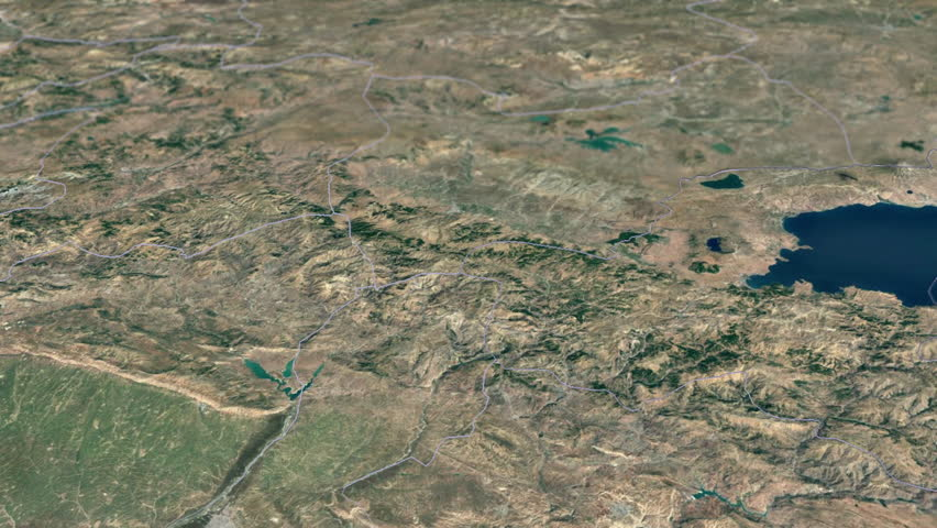 Osmaniye Province Animation Map Provinces Of Turkey Stock Footage