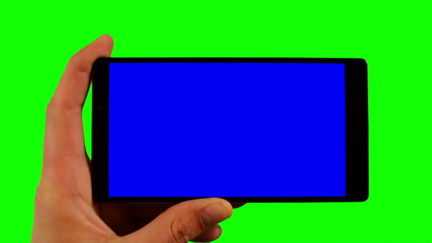 Smart phone in the hand close up isolated at green background. Chroma key green screen footage for mobile ads and app promo. Full HD 16:9 horizontal format of phone screen.   Shutterstock HD Video #1009934207