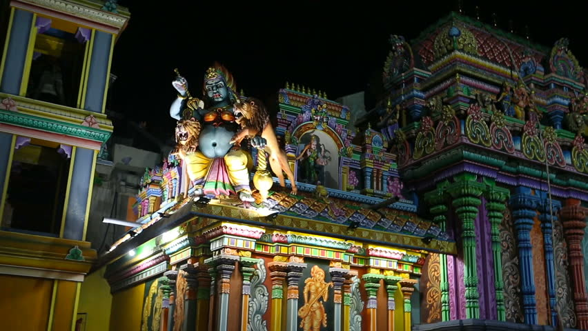 Ancient Hindu Pathirakali Amman temple in Trincomalee, Sri Lanka. Temple was built in honor of the goddess Badrakali (Bhadrakali). Walls are decorated with beautiful ornament
