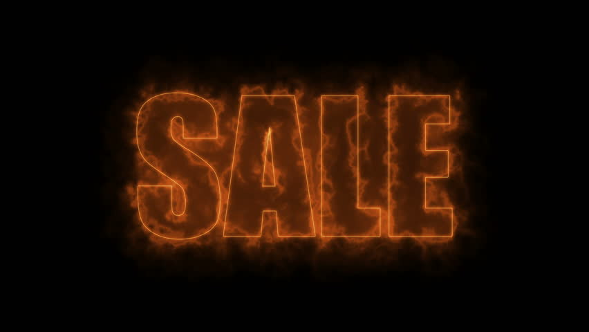 Letters of Sale text on black, 3d render background, computer generating for trading   Shutterstock HD Video #1009997777