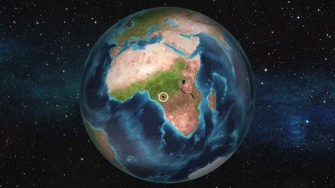 Earth Zoom In Map - Brazzaville