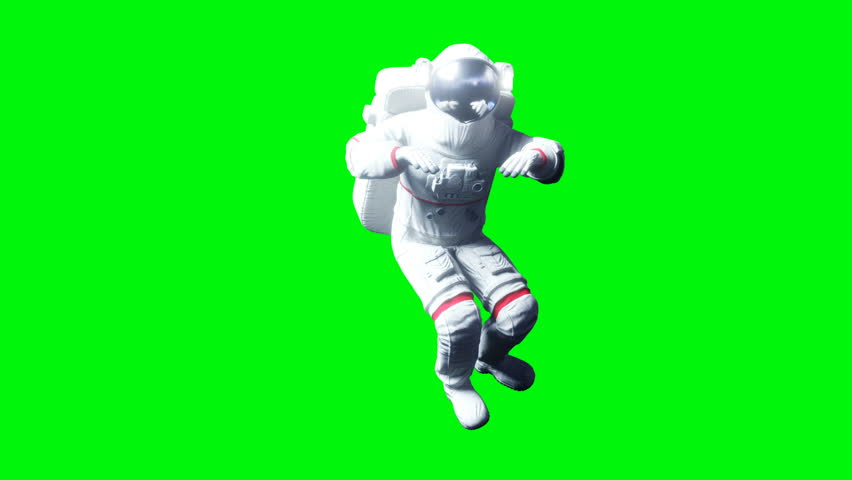 Astronaut levitation in space. Green screen. Realistic 4k animation. | Shutterstock HD Video #1010061227