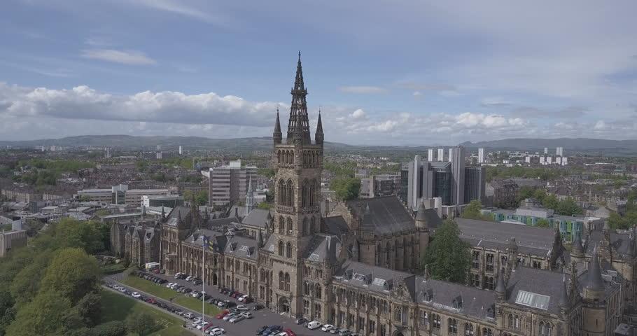 Glasgow City Skyline, Scotland in Summer. | Shutterstock HD Video #1010084597