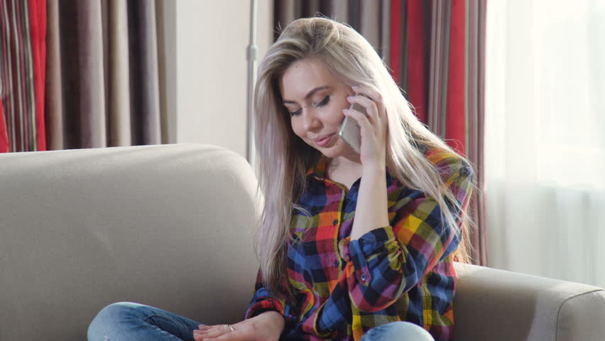 Technology communication mobile phone. modern gadgets. friendly call. young beautiful girl talking on her smartphone | Shutterstock HD Video #1010108807