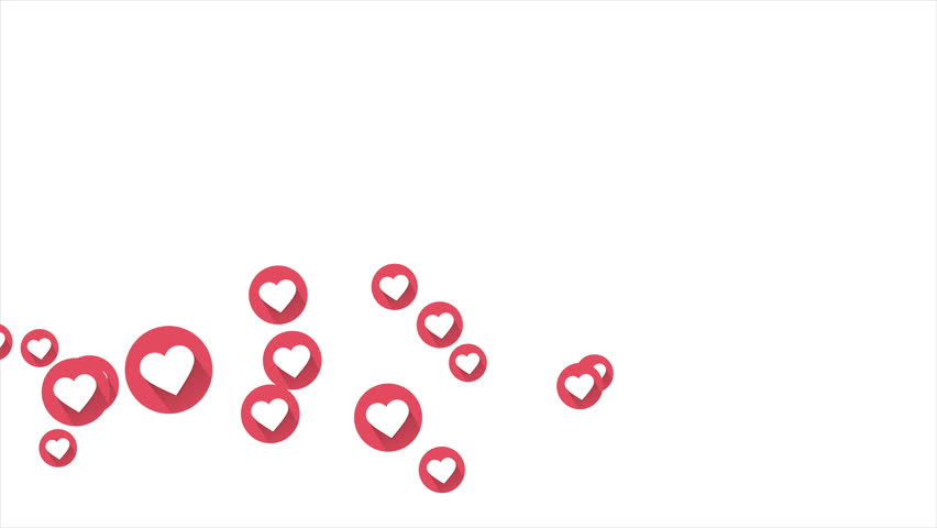 Social love heart icon animation with optional luma matte. Alpha Luma Matte included. 4k video