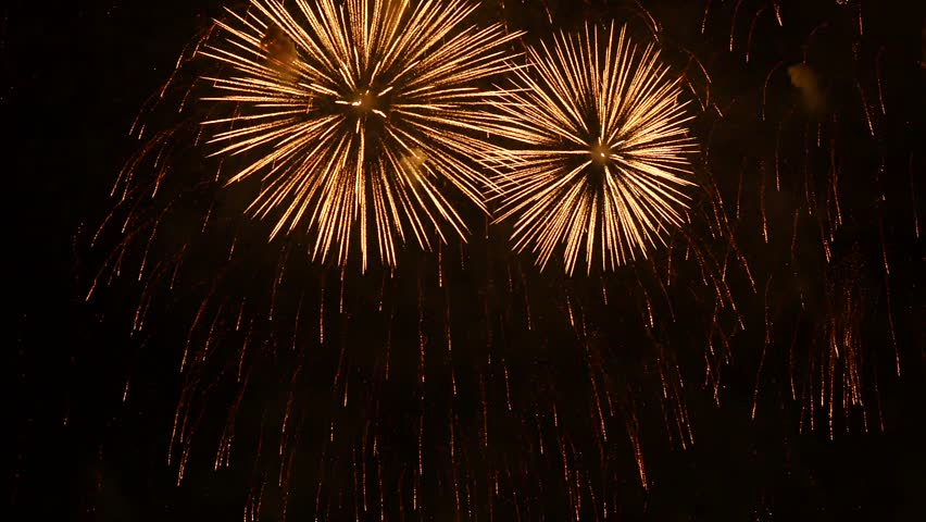 The fireworks in the night sky | Shutterstock HD Video #1010285477