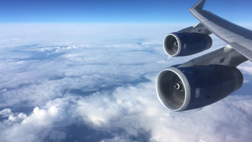 Rolls Royce jet engines , Atlantic Ocean. April 2018. for editorial use only