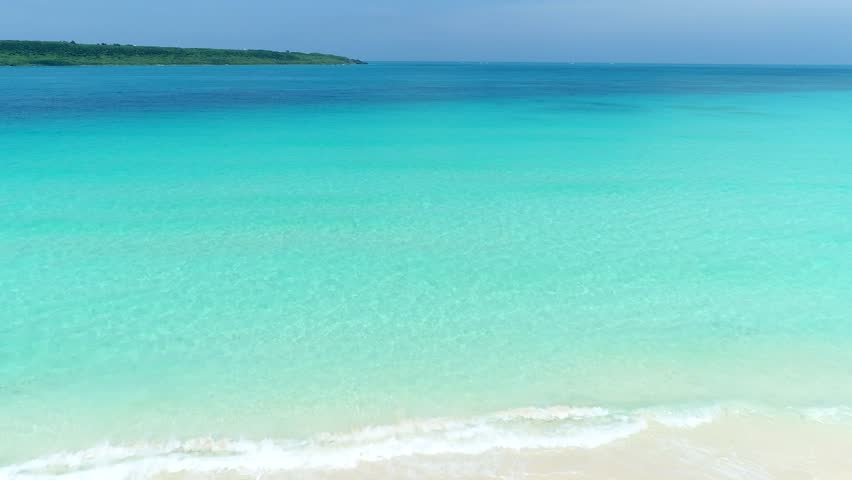 The beautiful seascape at Okinawa in Japan | Shutterstock HD Video #1010394437