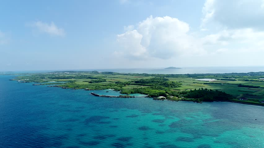 The beautiful seascape at Okinawa in Japan | Shutterstock HD Video #1010394587