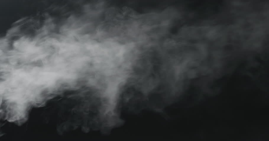 Slow motion vapor steam from left over black background | Shutterstock HD Video #1010431157
